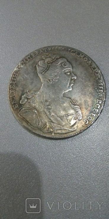 1 рубль 1727 год Екатерина 1 1727 год Копия, фото №2
