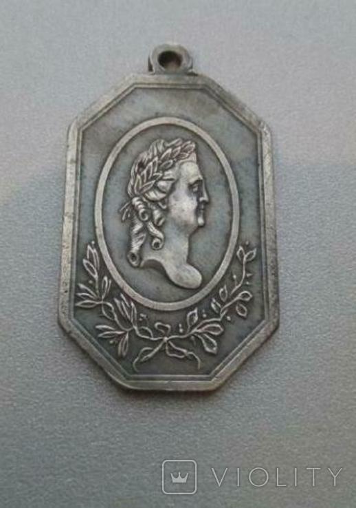 Медаль За службу и храбрость Мир с Швецией 1790 года копия, фото №2