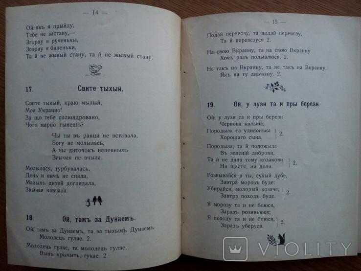 Бандурист сборник малорусских песен 1910 г, фото №6