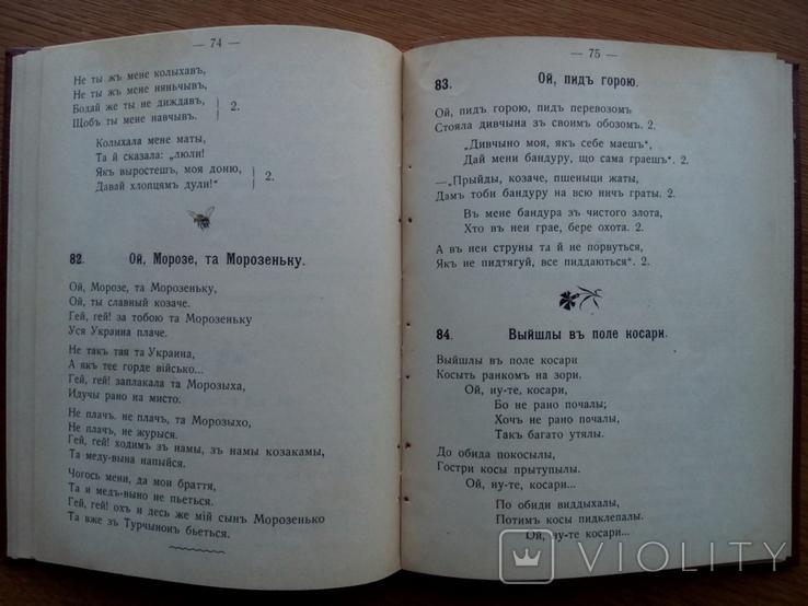 Бандурист сборник малорусских песен 1910 г, фото №10