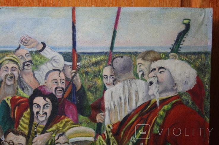 Картина  Козаки  96х58. Копия., фото №7