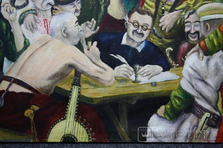 Картина  Козаки  96х58. Копия., фото №9