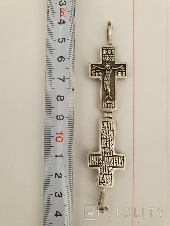 Хрестик-мощевик, 13.3 гр., фото №5
