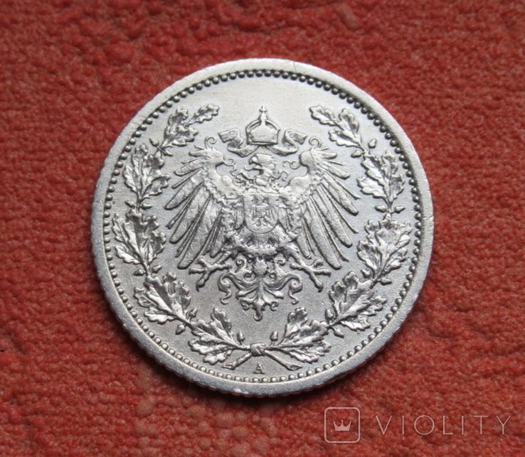 1/2 марки 1908 г. (А) Германия, серебро, фото №5