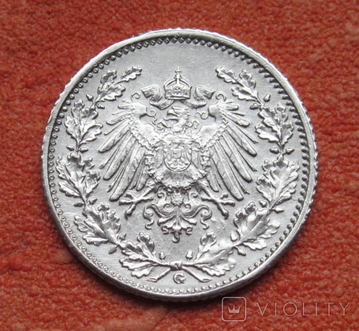 1/2 марки 1918 г. (G) Германия, серебро, фото №5