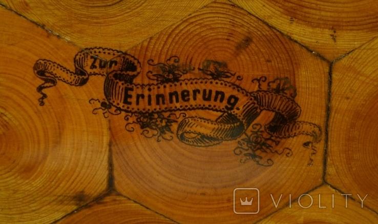Немецкая шкатулка  из дерева под ключ Zur Erinnerung, фото №8
