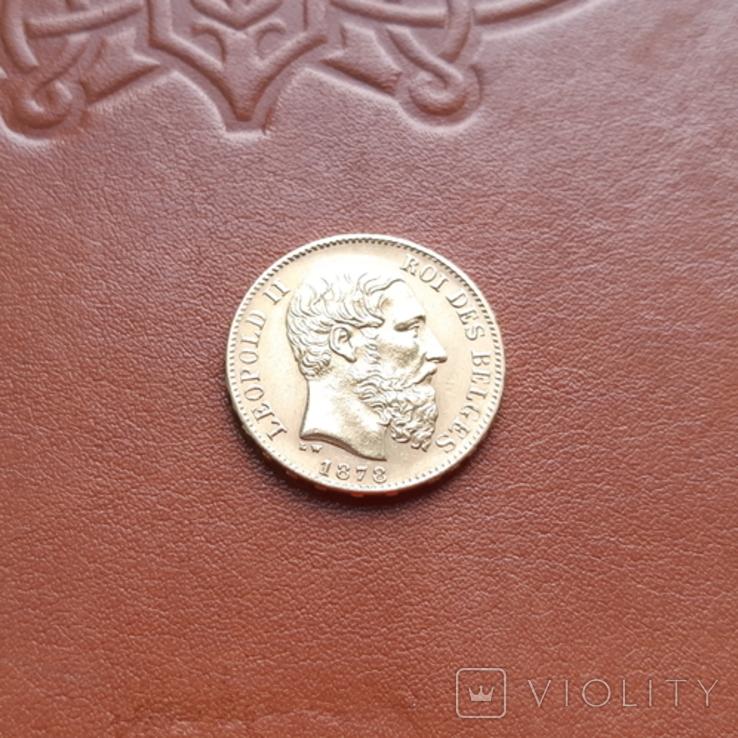 Бельгія20франків франков 1878, фото №4