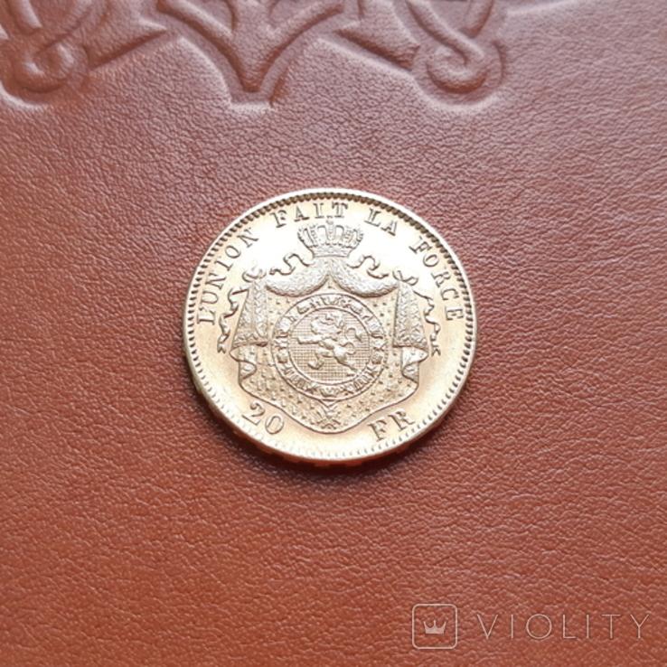 Бельгія20франків франков 1878, фото №6