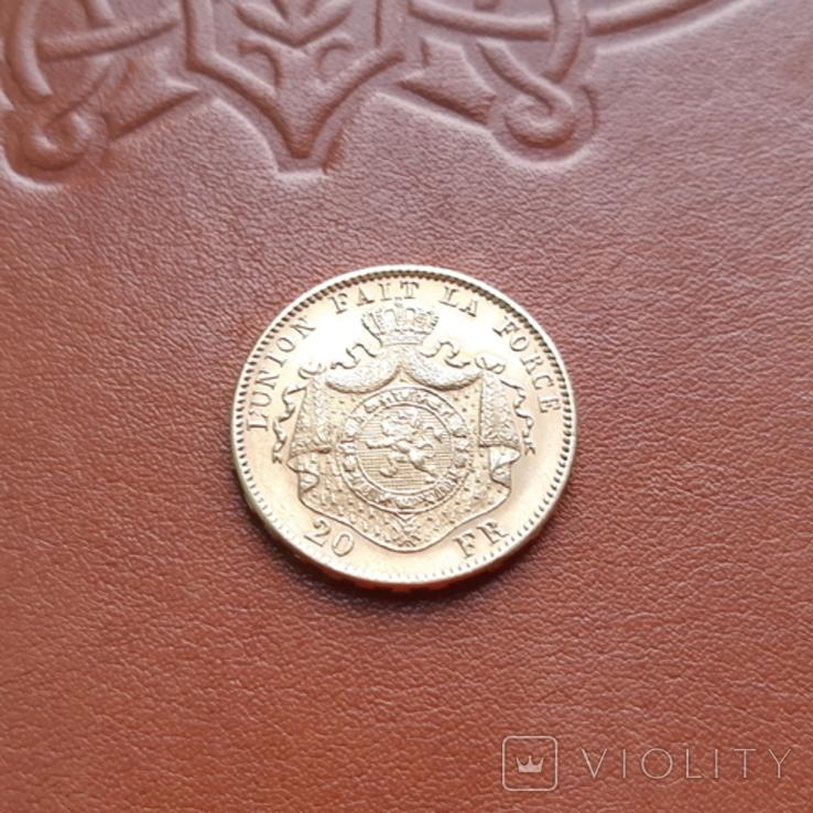 Бельгія20франків франков 1878, фото №7