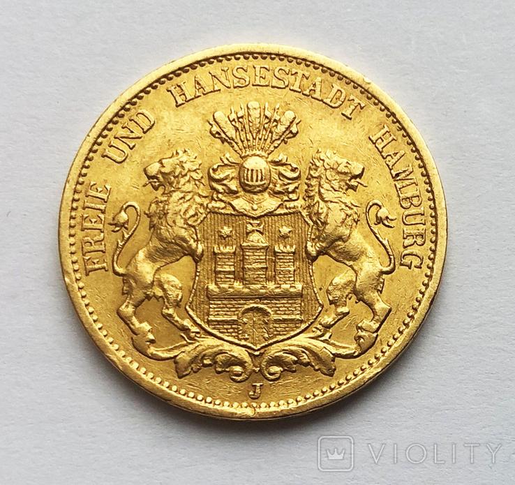 20 марок 1877 года. Гамбург., фото №2