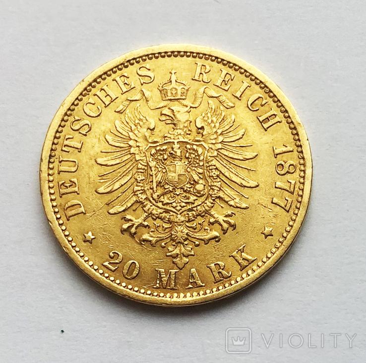 20 марок 1877 года. Гамбург., фото №3