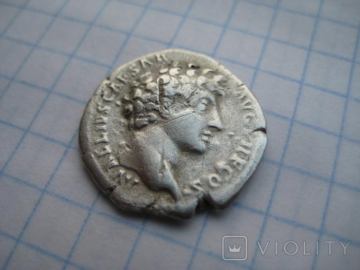 Денарий, Марк Аврелий (реверс - жертовный набор), фото №7