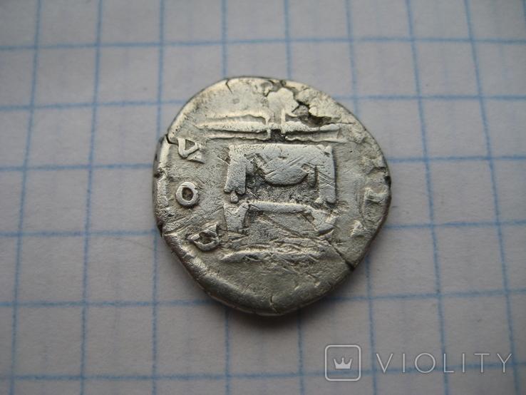 Денарий, Антоний Пий (реверс - молнии над троном), фото №9