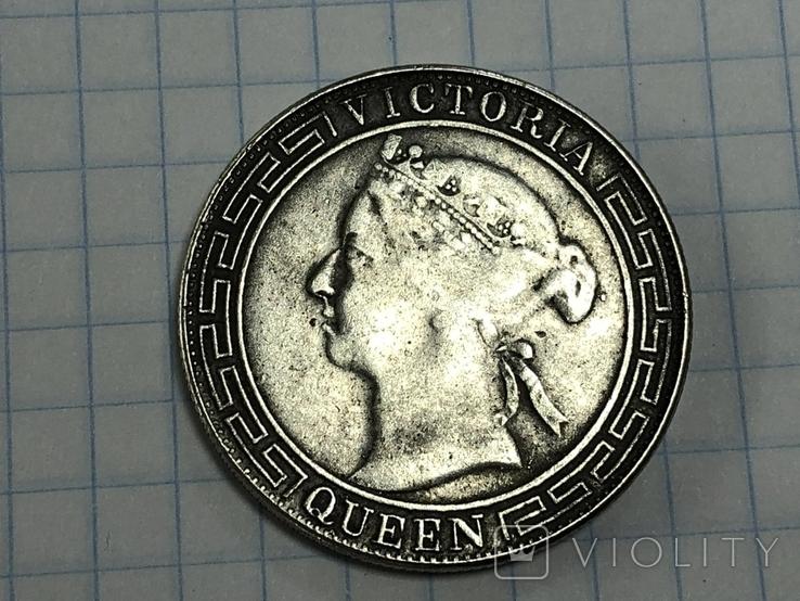Hong Kong 1/2 dollar 1868 half dollar Qeen Victoria, фото №5