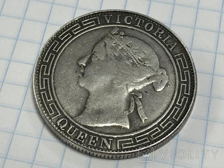 Hong Kong 1/2 dollar 1868 half dollar Qeen Victoria, фото №6