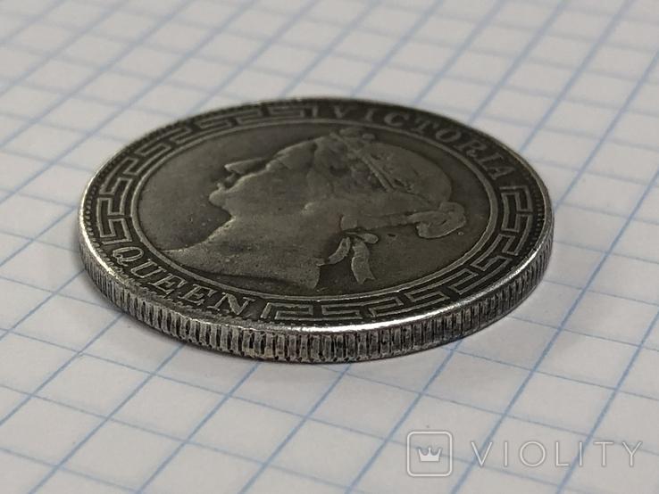 Hong Kong 1/2 dollar 1868 half dollar Qeen Victoria, фото №7
