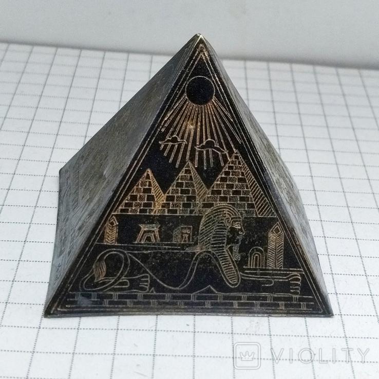 Пирамида Статуэтка латунь. Фараон, Египет., фото №2