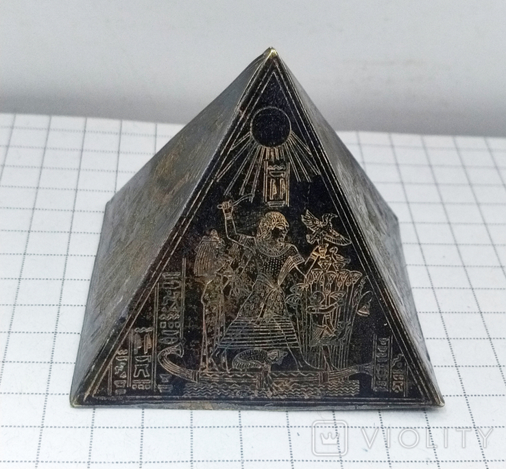 Пирамида Статуэтка латунь. Фараон, Египет., фото №4