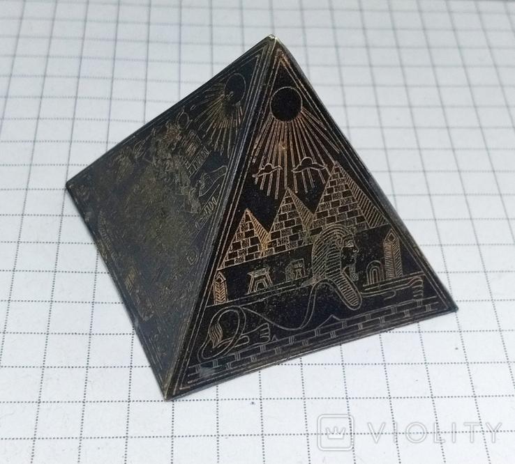 Пирамида Статуэтка латунь. Фараон, Египет., фото №8