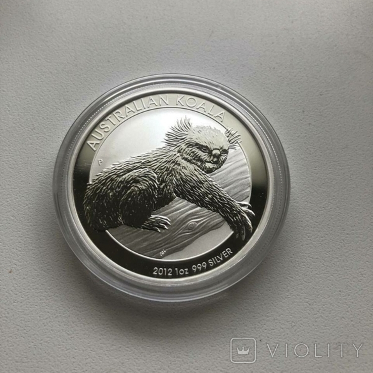 Австралия 2012 1 Коала 1 унция серебра 999, фото №2