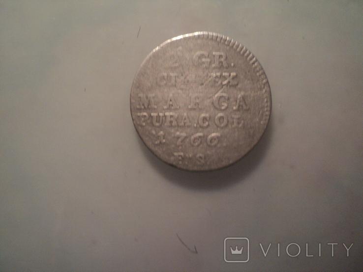 2 гроша 1766 г, фото №3