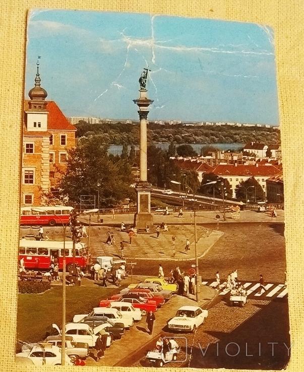 Фото открытка Варшава Warszawa 1975 Plac Zamkowy, фото №2