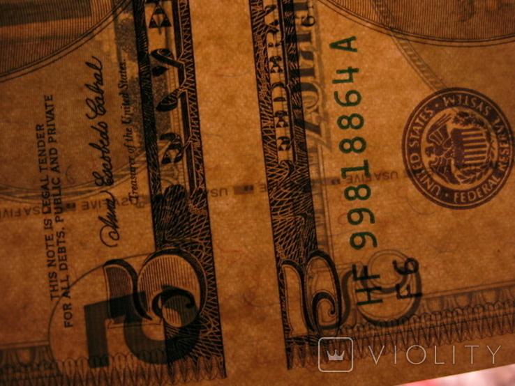 Чотири пятидоларових банкноти не різані., фото №9