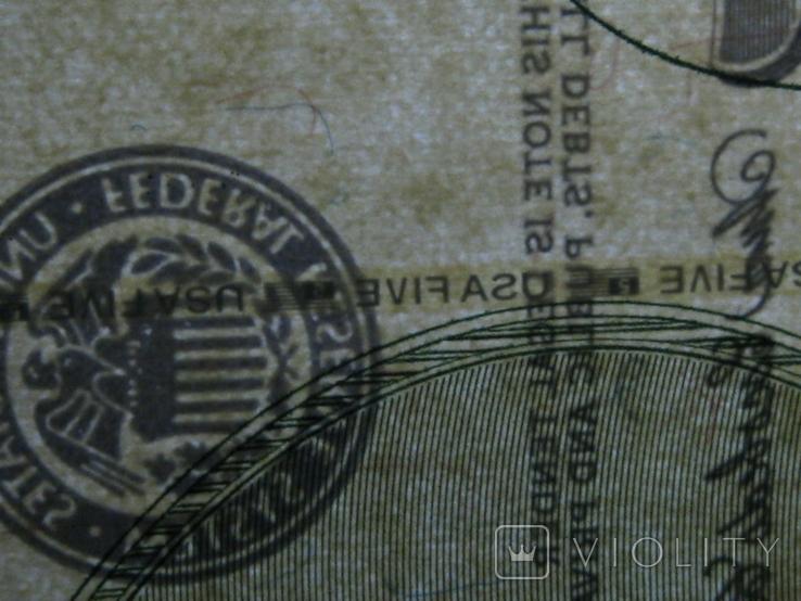 Чотири пятидоларових банкноти не різані., фото №10
