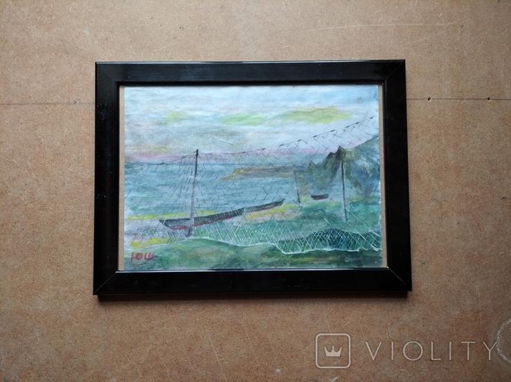 """Море"" б.акв. 20х28 см. Юрий Шуревич., фото №2"