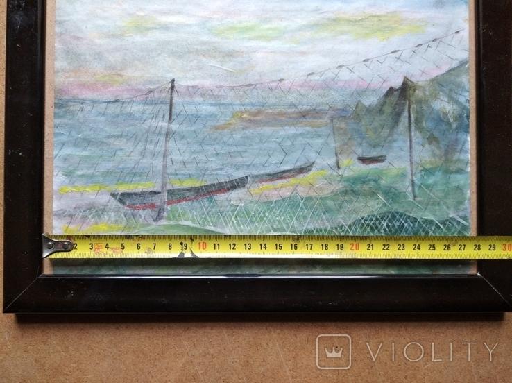 """Море"" б.акв. 20х28 см. Юрий Шуревич., фото №7"