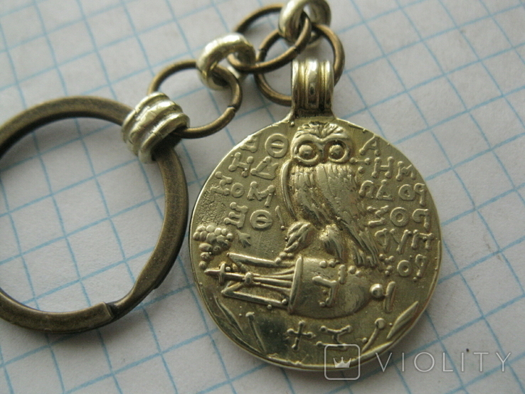 Брелок з копію давньогрецької  монети, фото №2