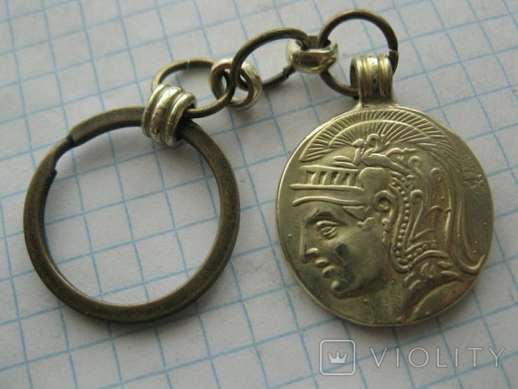 Брелок з копію давньогрецької  монети, фото №3
