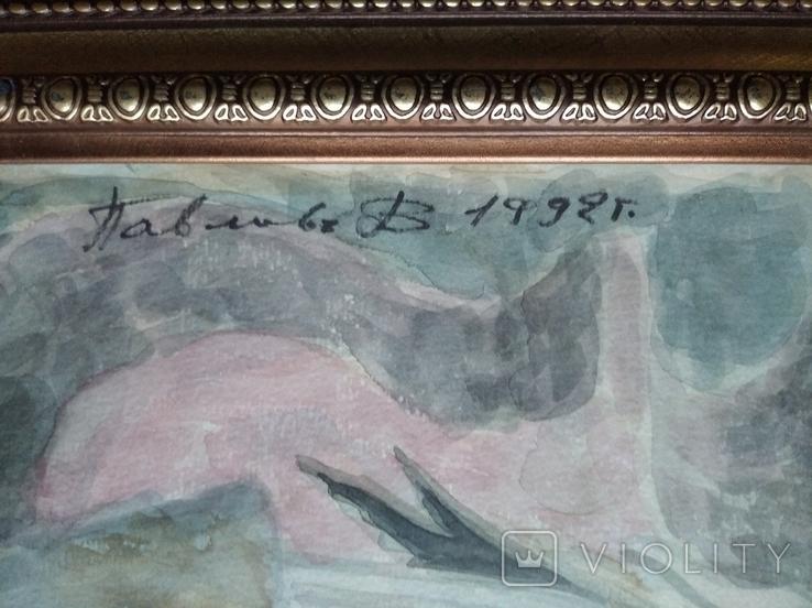 """""""Орфей"""" б.акв. 60х25 см. 1992 г. Виктор Павлов, фото №5"""