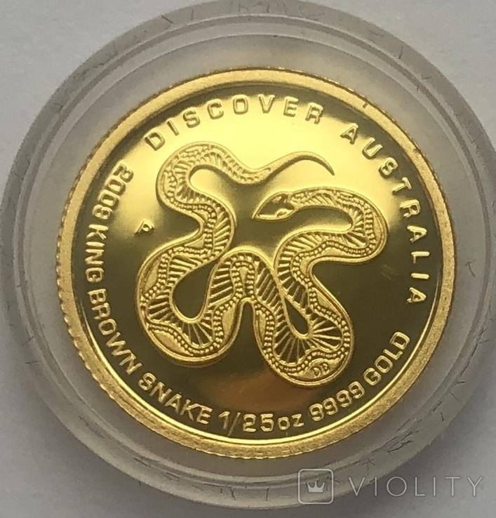 5 долларов 2009 года. Коричневая змея. Австралия.