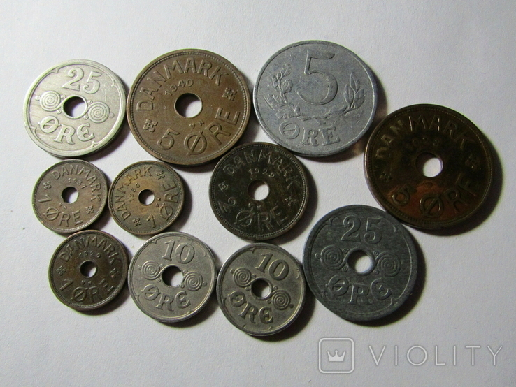 Монеты Дании 11шт., фото №2