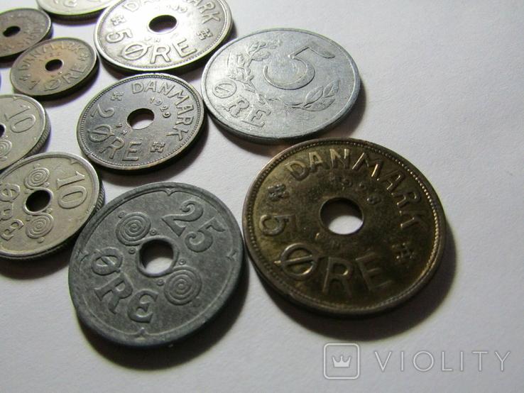 Монеты Дании 11шт., фото №3