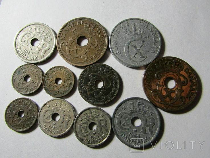 Монеты Дании 11шт., фото №5