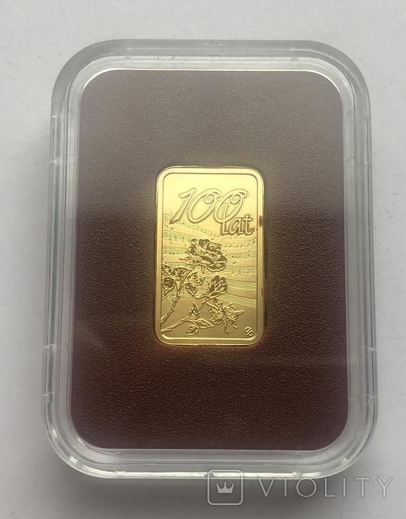 Монета-слиток. 100 лет. Польша., фото №2