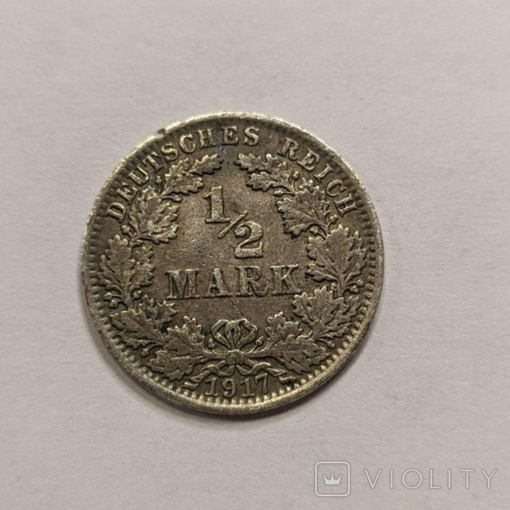 Германия 1/2 марки 1917 год, фото №2
