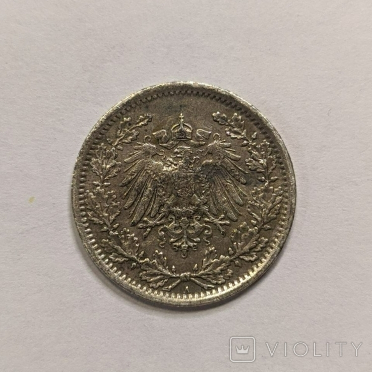 Германия 1/2 марки 1917 год, фото №3