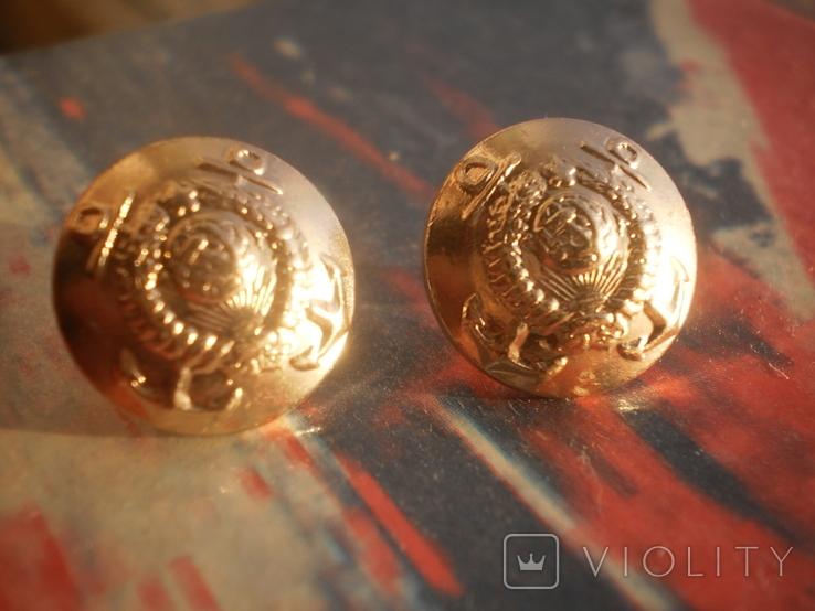 Пара малых пуговиц адмиралов ВМФ СССР, фото №2
