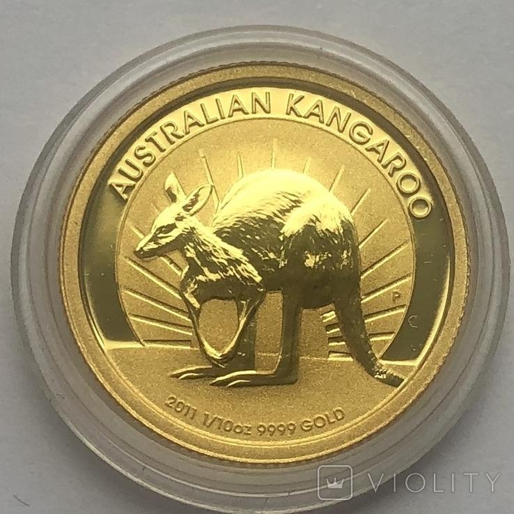 15 долларов 2011 года. Австралия. 1/10 oz.