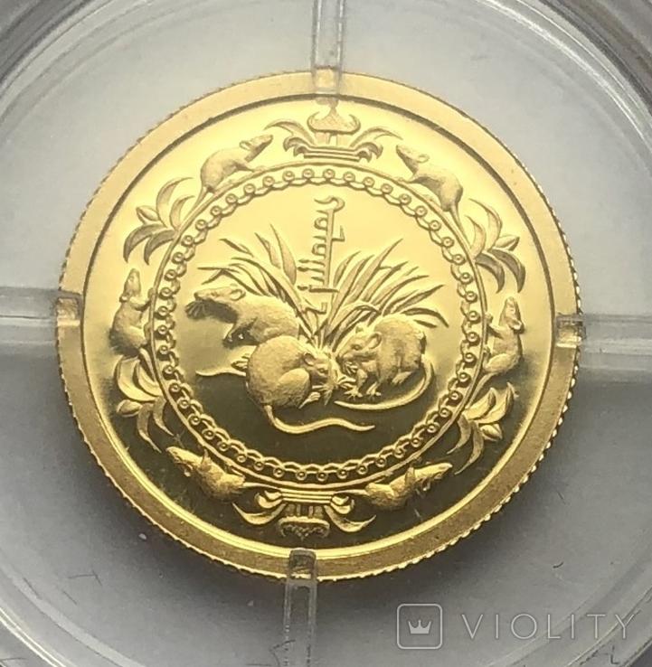 1000 тугриков 2008 года. Монголия. 1/25 oz., фото №2