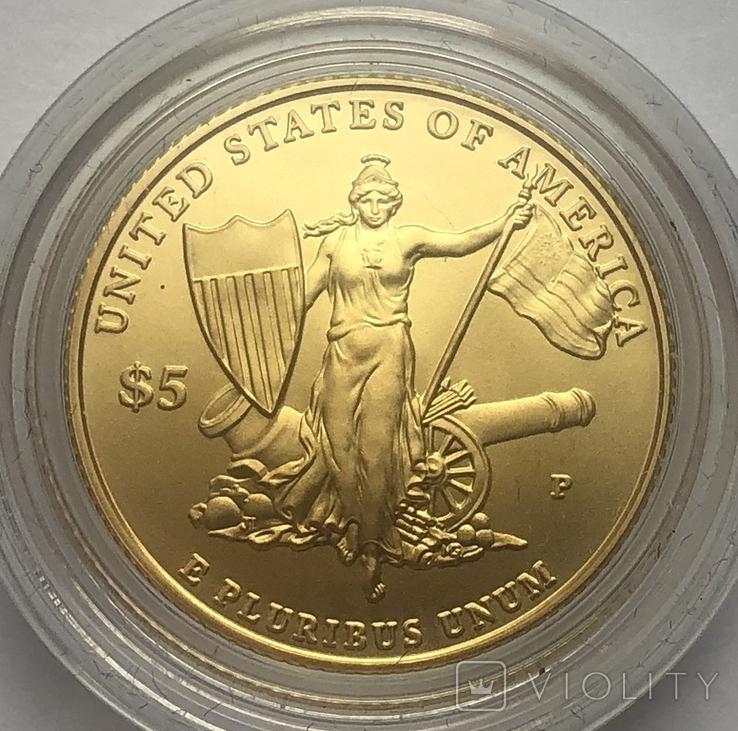 5 долларов 2011 года. США. Медаль за отвагу.