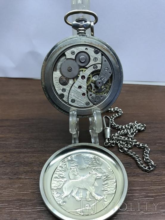 Карманные часы Молния Волки, фото №6