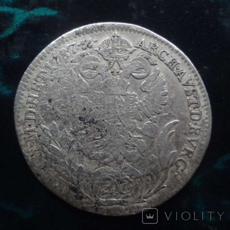20 крейцеров 1787 Бавария Йозеф, фото №2
