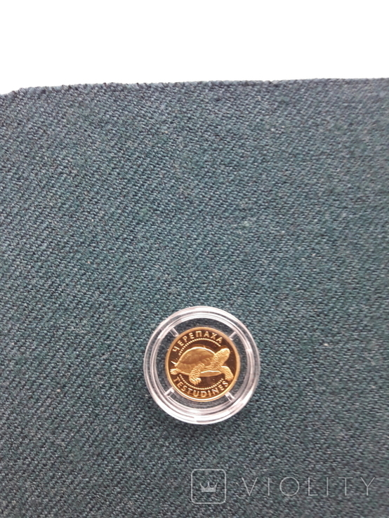 Монета 2гр. Черепаха золото, фото №9