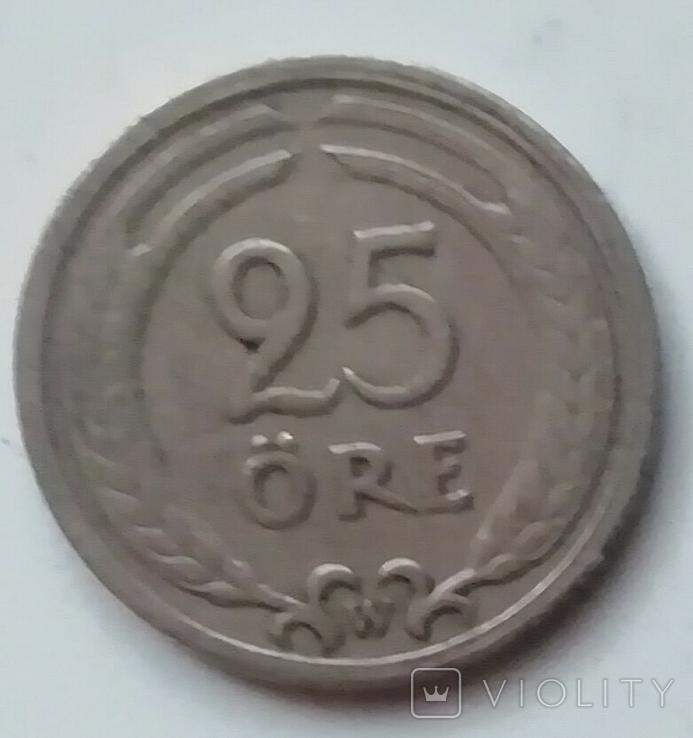 Швеция 25 эре, 1921 г., фото №2