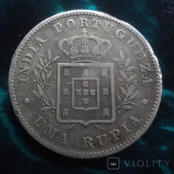 1  рупия 1882 Португальская Индия, фото №5