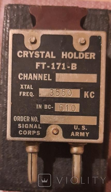 Кварцевый кристаллический держатель США Crystal Holder FT-171-B, фото №5